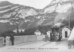 BVA -  La Société Du Chemin De Fer Genève-Veyrier (GV G.V.) G 3/3 3 Salève à Veyrier Avant 1893 - GE Geneva