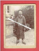 PHOTOGRAPHIE 1902 FRANCOIS CREPEZ MAITRE CORDONNIER A LIGNY MEUSE CANDIDAT RADICAL SOCIALISTE AUX ELECTIONS LEGISLATIVES - Identifizierten Personen