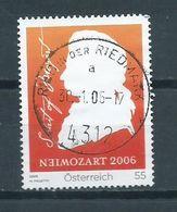 2006 Austria W.A Mozart Used/gebruikt/oblitere - 1945-.... 2ème République