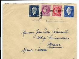 Enveloppe 1946 - Affranchissement 3F En Combinaison Multiple Marianne Dulac Et CERES - France