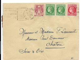 Enveloppe 1946 - Affranchissement 3F En Combinaison Multiple CERES - France