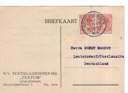 Scheveningen - Den Haag - Textum - 1931 - Duitsland - Marcofilia