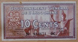 INDOCHINE FRANÇAISE 10 Cents  ND (1939) P.085 - Indochina