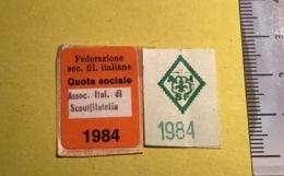 Bollino 1984, Per Tessera AISF Scout Filatelia - Autres Collections