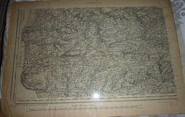 Carte Topographique N°44 Coutances (Manche) état Major 1846, Révisée 1910 - Cartes Topographiques