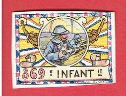 VIGNETTE DELANDRE 369e REGIMENT INFANTERIE GUERRE 1914 1918 WWI POSTER STAMP CINDERELLA - Militärmarken