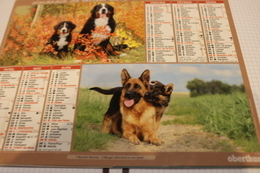 ALMANACH DU FACTEUR Calendrier Des Postes 2015, SEINE-MARITIME, BOUVIER, BERGER, Golden Retriev, Carton Souple.4 Photos. - Calendars