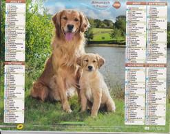 ALMANACH DU FACTEUR Calendrier Des Postes 2015, SEINE-MARITIME, BERGER AUSTRALIEN, Golden Retri, Carton Souple.2 Photos. - Calendars