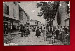 Repro De CPA 46 Livernon Lot Rue De La Fromagerie - Fromage Bidon De Lait Attelage Cheval ... - Livernon