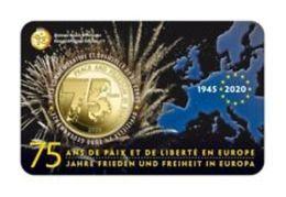 Belgie 2020  2,5 Euro   75 Ans Paix Et Liberté En Europe Dans Le Coincard  Version FRANCAIS  !!! - Bélgica