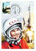 Russia Space Power 2020 Maximum Cards SOUVENIR Gagarin - Cartes Maximum