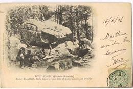 FONT-ROMEU - 66- Rocher Tremblant,Roche Pesant 25.000 Kilos Et Qu'une Poussée Fait Trembler- Scans Recto Verso - Sonstige Gemeinden