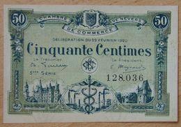 NEVERS (58)  50 Centimes  Chambre De Commerce  22-02-1920 Série 3 ème - Cámara De Comercio
