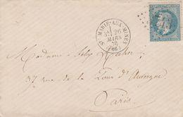 France Alsace Lettre Ste Marie Aux Mines Cachet Type 16  1870 - Marcofilia (sobres)