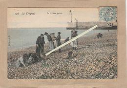 Dept 76 : ( Seine Maritime ) Le Tréport, Le Tri Des Galets, La Plage. - Le Treport