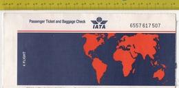IATA Passenger Ticket - Rome/Cairo Alitalia SEE 4 SCANS - Vliegtickets