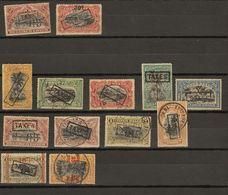 Congo Belge Ocb Nr : TX Lot,  Top 2 * MH,  Bottom Lot All Used   (zie Scan) Oa Tx45 46 - Congo Belge