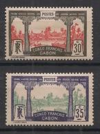 Gabon - 1910 - N°Yv. 40 Et 41 - Libreville 30c Et 35c - 2 Valeurs - Neuf * / MH VF - Unused Stamps