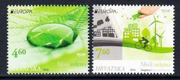 2016 Croatia Think Green Europa Cycling Environment  Complete Set Of 2 MNH @ BELOW FACE VALUE - Kroatië