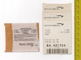 BRITISH AIRWAYS Baggage Identification Ticket SEE SCAN - Titres De Transport