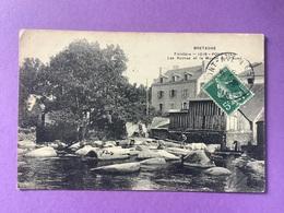 29  CPA PONT-AVEN  Les Roches Et Le Moulin Sur L'Aven   Joli Plan   Très Bon état - Pont Aven