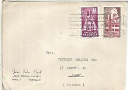 VALENCIA CC A ALCOY SELLOS PLAN SUR MONASTERIO DE SILOS RELIGION - 1961-70 Storia Postale