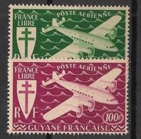 Guyane - 1945 - Poste Aérienne PA N°Yv. 26 à 27 - Série De Londres - Neuf Luxe ** / MNH / Postfrisch - Unused Stamps