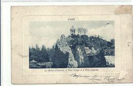 2020 - 06 - SEINE - 75 - PARIS - 19ème Arrondissement -  Parc Des Buttes Chaumont - Le Petit Temple Et Le Pont Suspendu - Arrondissement: 19