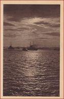 Pula (Pola) * Kreuzer, Schiffe, Mondnacht * Kroatien * AK2839 - Croazia