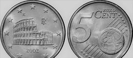 MONNAIE ITALIE 5 Cent 2002 Rome Euro Fautée/error Non Cuivrée - Italie