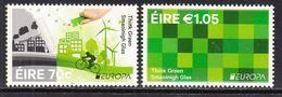 2016 Ireland Think Green Energy Cycling Europa Complete Set Of 2 MNH @ BELOW FACE VALUE - 1949-... Republiek Ierland