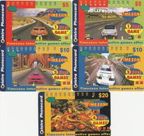 Australia, A971112 - A971154a, Set Of 5 Cards, Timezone, Cars, 3 Of Them Is 1 Hole, 2 Scans. - Australie