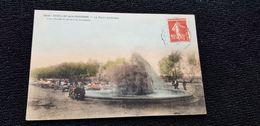 Cp 33 Gironde CADILLAC Sur Garonne Le Puits Artésiens  ( Colorisée  ) Lavoir Lavandières Linges Brouette - Cadillac
