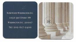 Rosewood Washington D.C.Hotel, U.S.A.. Unsued Contactless Hotel Room Key Card, # Rosewood-25a NEW SQUARE DESIGN - Cartas De Hotels