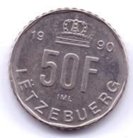 LUXEMBOURG 1990: 50 Francs, KM 66 - Luxemburg
