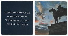 Rosewood Washington D.C.Hotel, U.S.A.. Unsued Contactless Hotel Room Key Card, # Rosewood-26 NEW SQUARE DESIGN - Cartas De Hotels