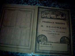 Buvard Pharmacie Moderne R.Segonzac à Carmaux Tarn - Buvards, Protège-cahiers Illustrés