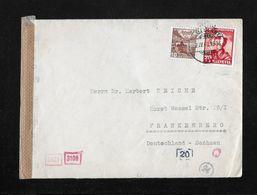1943 HEIMAT NEUCHATEL → Zensur Brief Ambulant Nach FRANKENBERG Deutschland  ►Mischfrankatur◄ - Pro Juventute