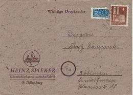 Heinz Spieker Dillenburg - Notopfer Berlin - 1949 - Frauenkirche München - Drucksache - Pharmazie