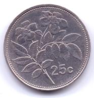 MALTA 2001: 25 Cents, KM 98 - Malta