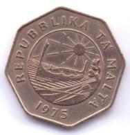 MALTA 1975: 25 Cents, KM 29 - Malta