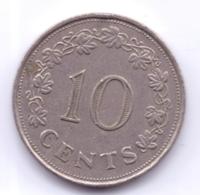 MALTA 1972: 10 Cents, KM 11 - Malta