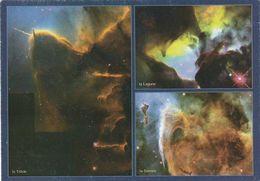 Carte Postale. Maroc. Observatoire Astronomique De Rabat. Ribat Al Fath. 3 Vues. Trifide. Lagune. Serrure. Etat Moyen. - Astronomia