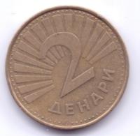 MACEDONIA 2001: 2 Denari, Fish, KM 3 - Macedonia