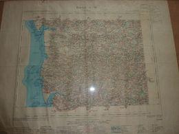 Carte Topographique Coutances (Manche) Feuille IX-12 Colorisée - Cartes Topographiques