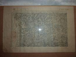 Carte Topographique Coutances (Manche) N°44 Type 1889 - Cartes Topographiques