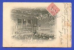 CPA FRANCE 75  ~  PARIS  ~  Hôtel De Ville - Salle Des Séances Du Conseil Municipal  ( 1909 ) - Arrondissement: 04