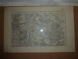 Carte Topographique Évreux N°47 Type 1889 - Cartes Topographiques