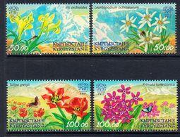 2016 Kyrgyzstan Express Flowers Fleurs Complete Set Of 4 MNH - Kirgizië