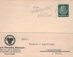 Reinecke Hannover Chem. Präparate Homöopathie Biochemie - Deine Muttersprache, Deutscher Halt In Ehren! 1937 - Pharmazie
